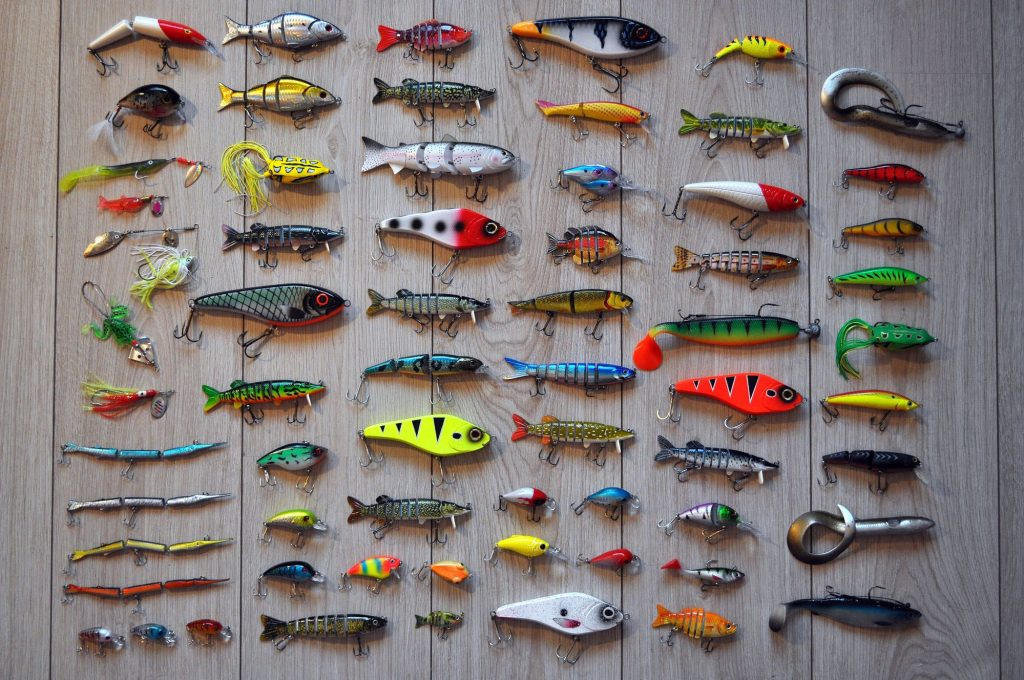 A Collection of Different Types of Artificial Fishing Lures